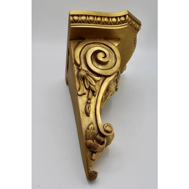 Large Art Nouveau Golden Acanthus Leaf Wall Shelves - a Pair For Sale - Image 9 of 13