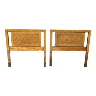 Henry Link Woven Twin Headboards - a Pair For Sale