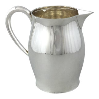 1930s American Sterling Paul Revere Reproduction Water Pitcher For Sale