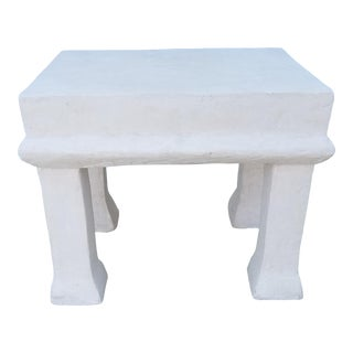1970s Mid Century John Dickinson Style Plaster Side Table For Sale