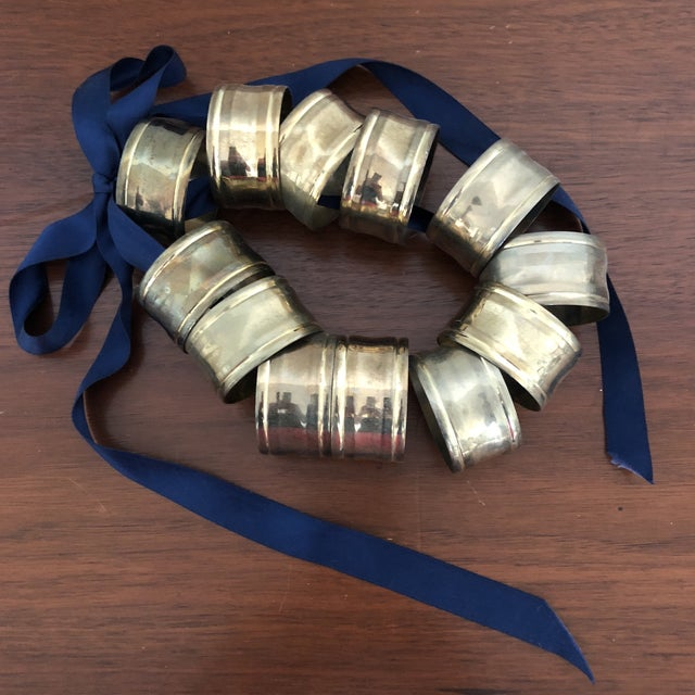 Brass Napkin Rings - Set of 12 For Sale - Image 9 of 9