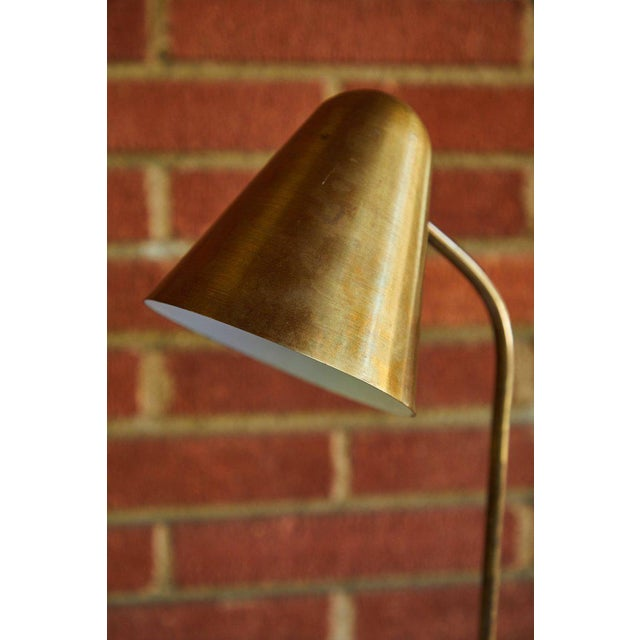 Jacques Biny 1950s Mid-Century Modern Brass Table Lamp For Sale - Image 4 of 12