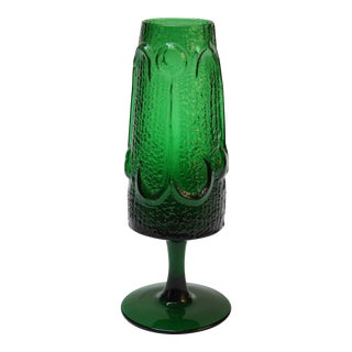 Stelvia Emerald Blown-Glass 'Antiqua' Vase designed by Wayne Husted For Sale