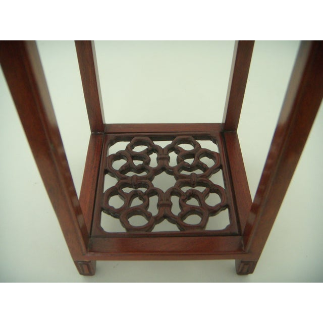 Ornate Vintage Chinese Rosewood Display Stand - Image 3 of 7