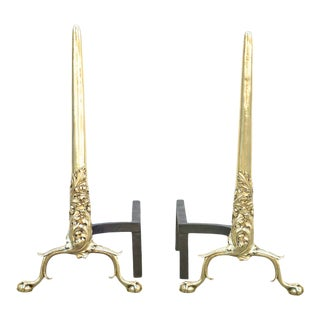 18th Century French Regency Andirons - a Pair For Sale