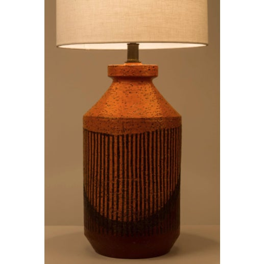 Ceramic hand-glazed studio table lamp by Bitossi. Made in Italy, circa the 1960s. Shades not included. Original cord....