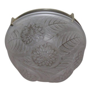"Lalique ""Dahlias"" Ceiling Fixture For Sale"