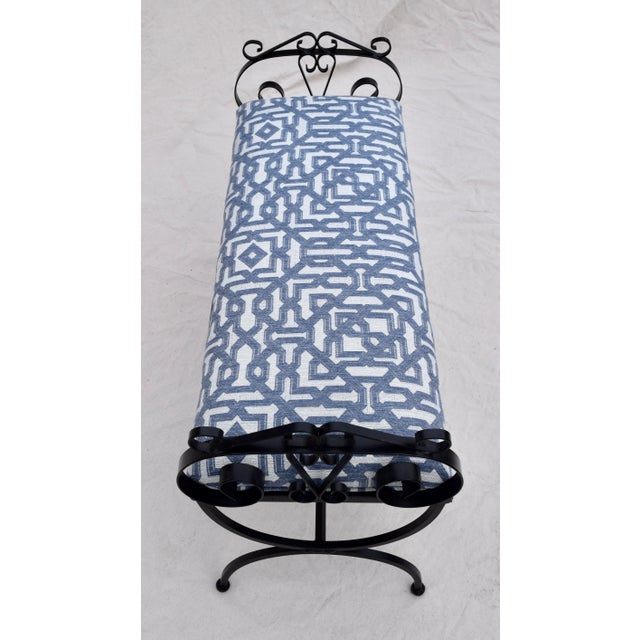 Wrought Iron Curule Base Bench For Sale - Image 4 of 9