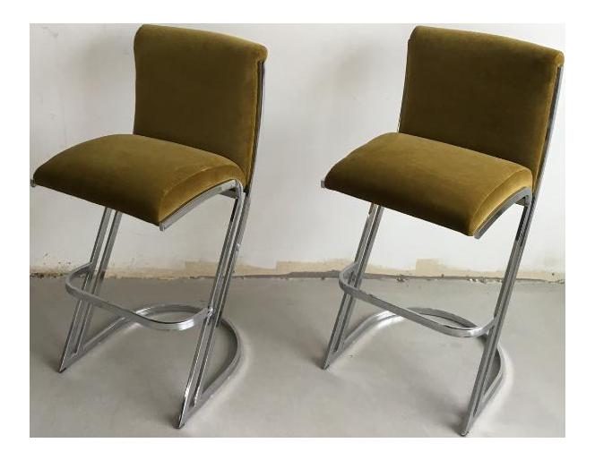 1970's pierre cardin bar stools - a pair | chairish 1970s Bar Stools