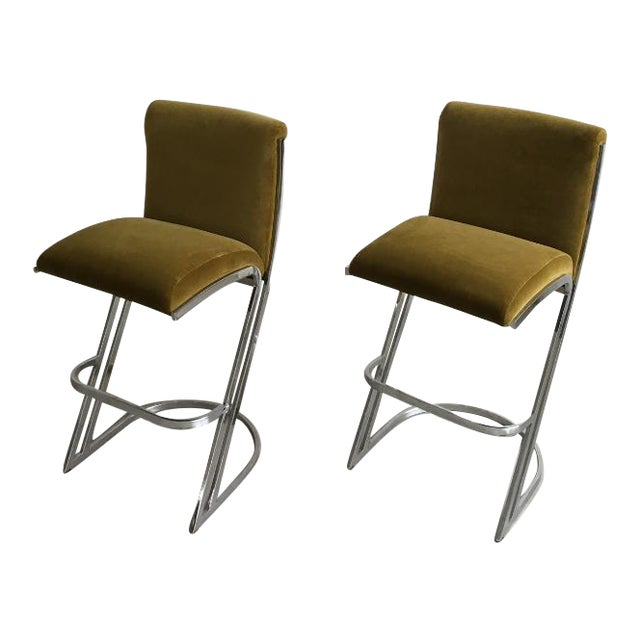 1970's Pierre Cardin Bar Stools - A Pair - Image 1 of 7