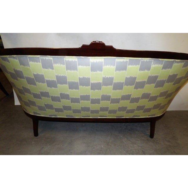 Wood Early 20th Century Antique Settee For Sale - Image 7 of 11