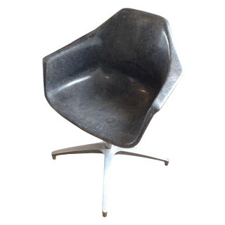 Mid-Century Eames Style Fiberglass Armchair For Sale
