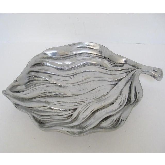 Aluminum Leaf-Shaped Platter - Image 3 of 7