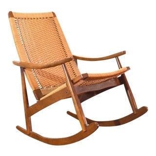 Hans Wegner Style Mid-Century Rocking Chair
