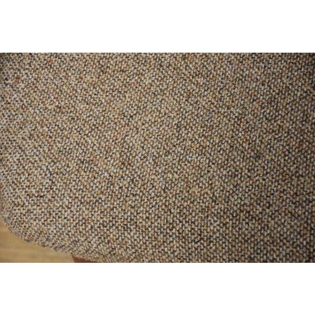 Textile Jens Risom Walnut Ottoman For Sale - Image 7 of 8