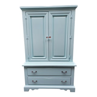 1960s Vintage Blue Armoire For Sale