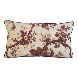 19th Century Floral Pillow For Sale