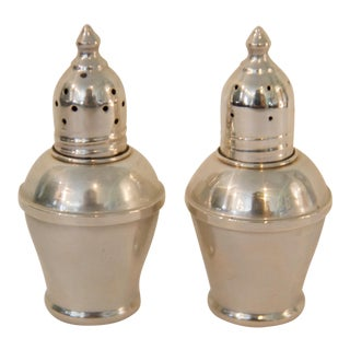 Vintage Weighted Sterling Silver Salt & Pepper Shakers - a Pair For Sale