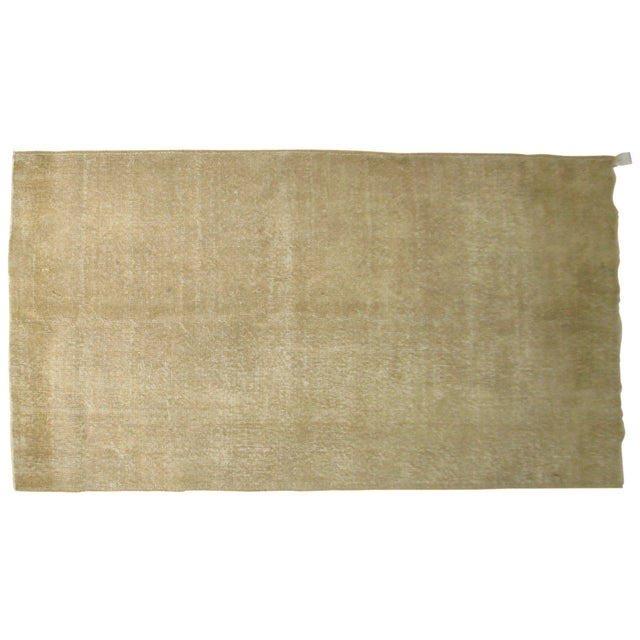 Vintage Taupe Turkish Rug For Sale