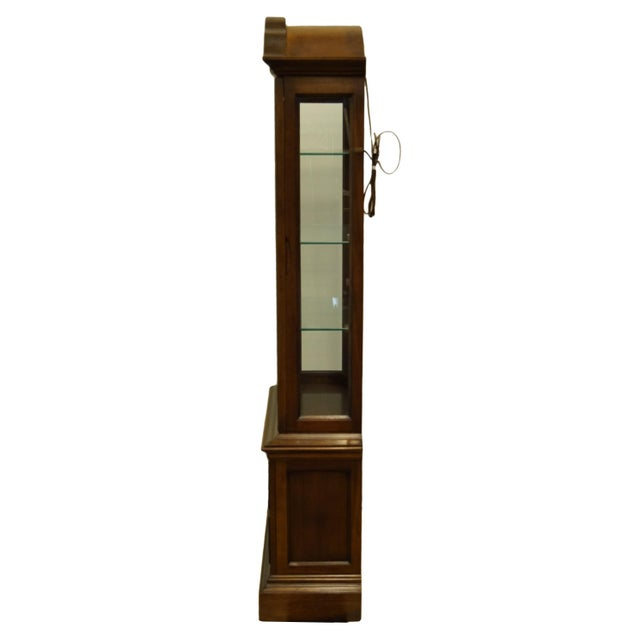 """20th Century French Country Brandt 25"""" Illuminated Curio Display Cabinet With Bonnet Top For Sale - Image 9 of 13"""
