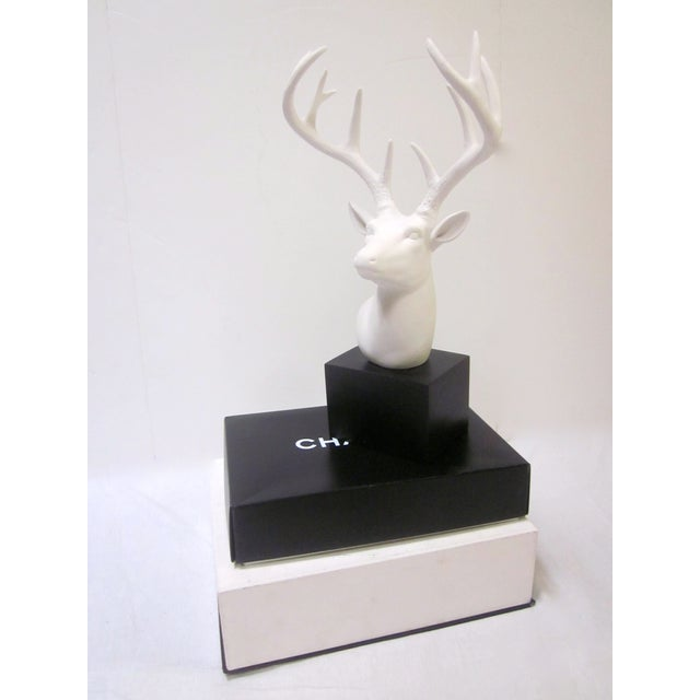 Faux White Reindeer Deer Antlers Bookshelf Decor - Image 3 of 11