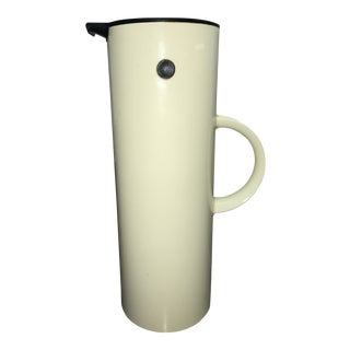 1977 Stelton White Thermos Carafe by Erik Magnussen For Sale