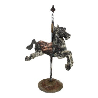 Antique Cast Iron Carousel Horse For Sale