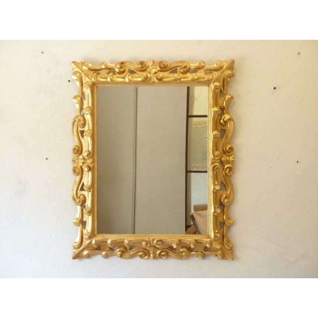 Italian Carved Giltwood Mirror For Sale In Boston - Image 6 of 6