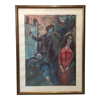 Mid-Century Marc Chagall Framed Collectible Print For Sale
