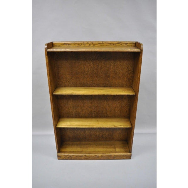 Mid Century Mission/Arts and Crafts Style Oak Two-Shelf Bookcase For Sale - Image 12 of 13
