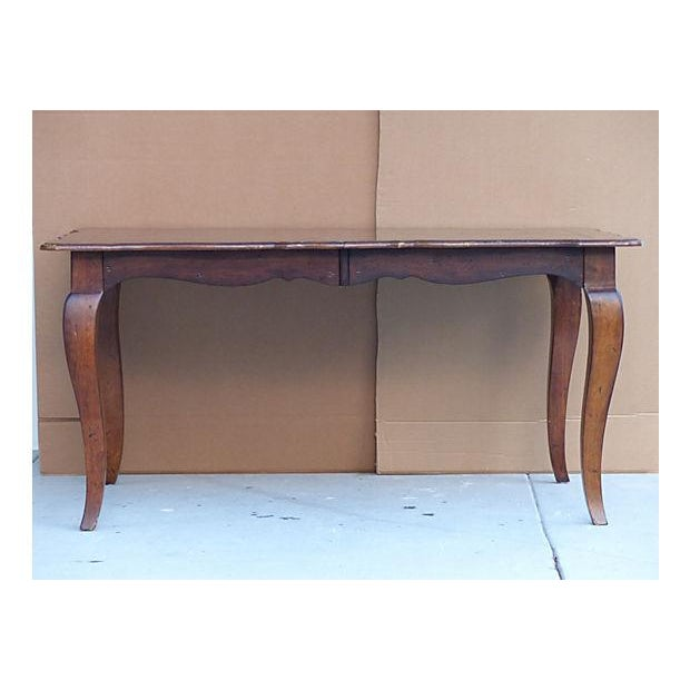 Extendable Parquet-Style Dining Table - Image 4 of 10