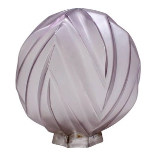 French Art Deco Sabino Paris Glass Geometric Ceiling Globe Lamp Shade For Sale