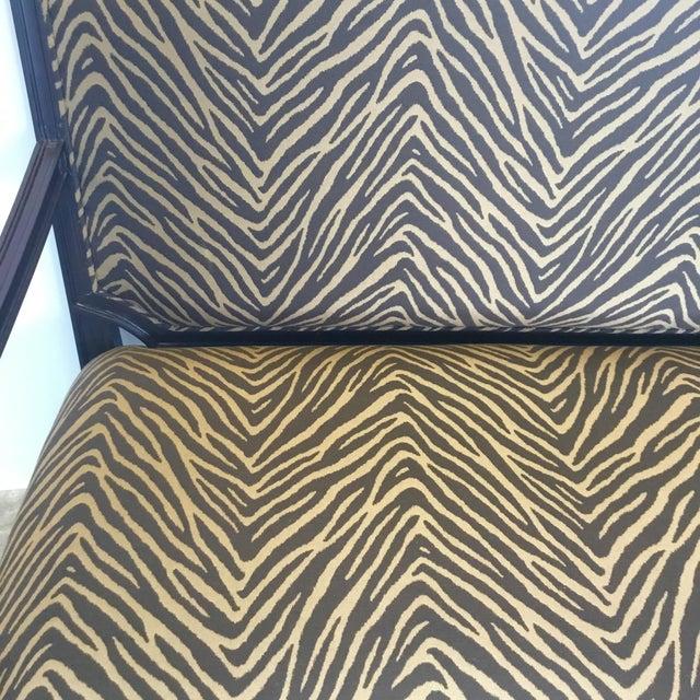 Modern Zebra Pattern Settee For Sale In Atlanta - Image 6 of 8