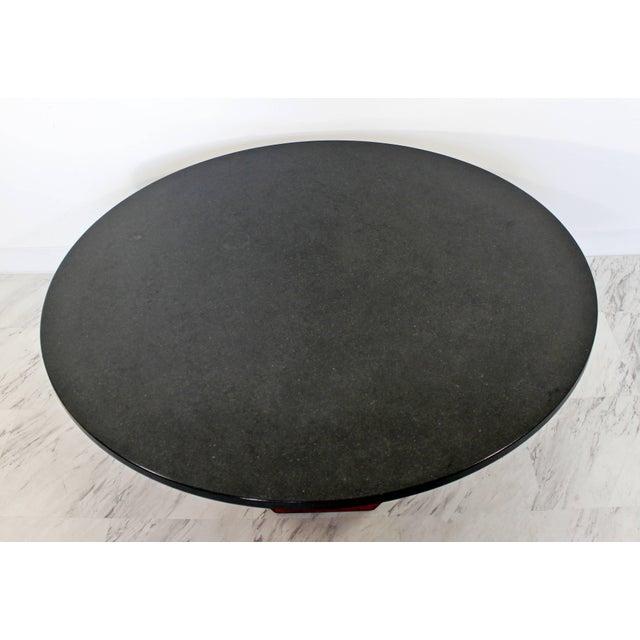 Mid-Century Modern Mid-Century Modern Fred Kemp Slate & Octagon Walnut Base Coffee Table For Sale - Image 3 of 5
