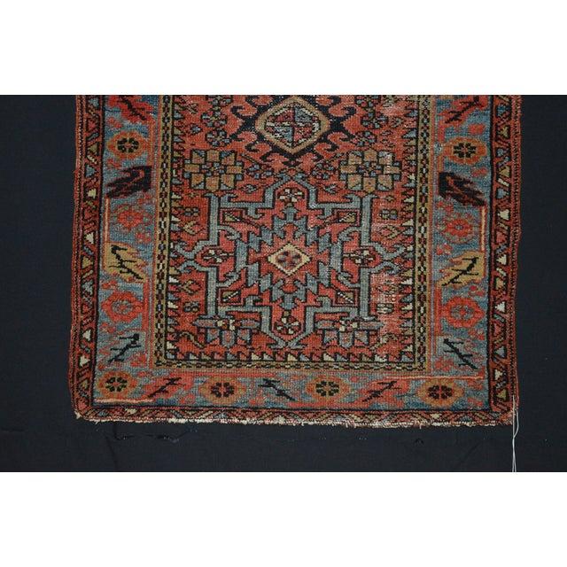 "Antique Persian Karaja Rug - 3'1"" x 4'3"" For Sale - Image 4 of 11"