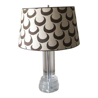 Gary Smith Mid-Century Lucite Table Lamp For Sale