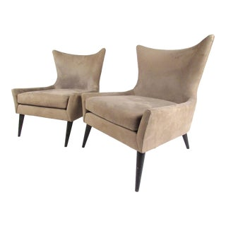 "Room & Board Wingback ""Lola"" Chairs - A Pair For Sale"