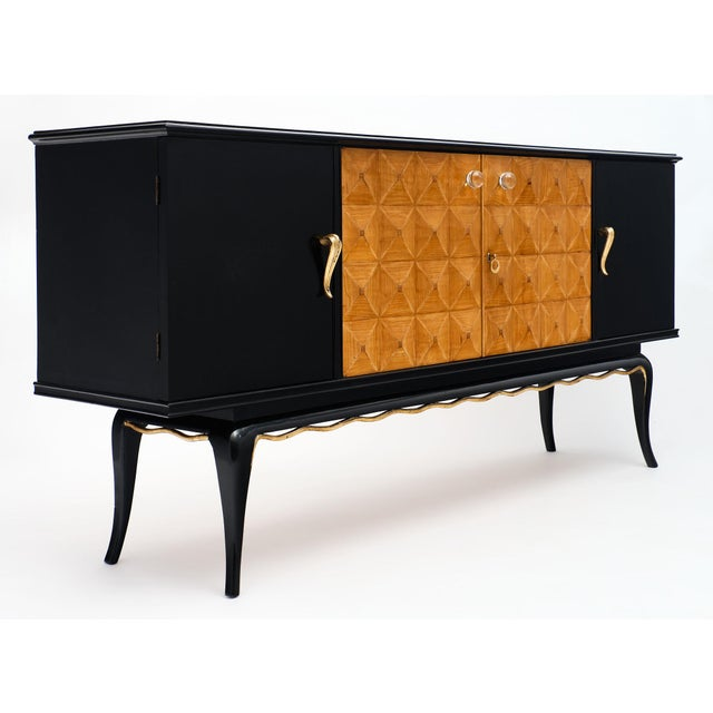 Black Italian Mid-Century Modern Buffet For Sale - Image 8 of 12
