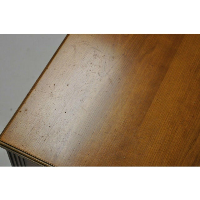 Metal 20th Century French Kindel Belvedere 1 Drawer Cherry Lamp Side Table For Sale - Image 7 of 12