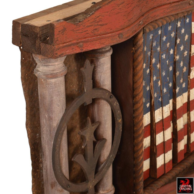FOREVER SHE WAVES #2 Mechanical American Flag with Eagle For Sale - Image 9 of 10