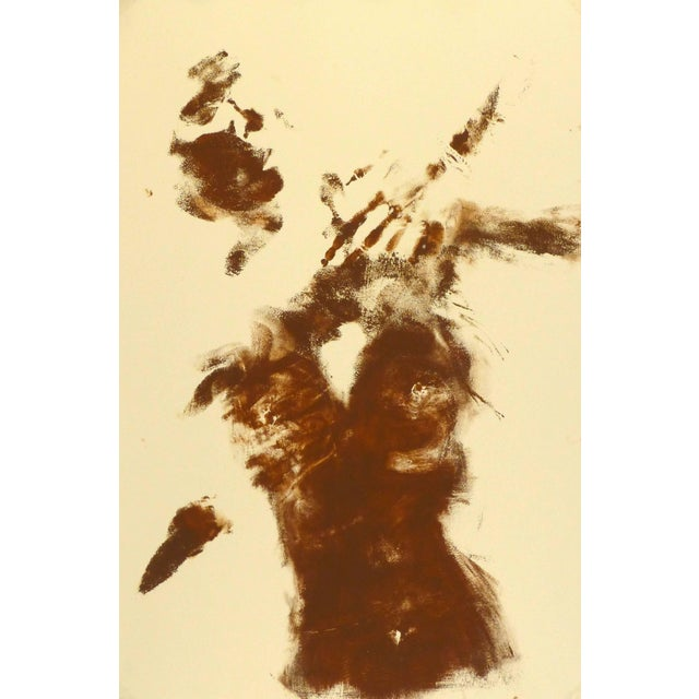 1990s Kismine Varner, Abstract Nude Body Art Painting For Sale - Image 5 of 5
