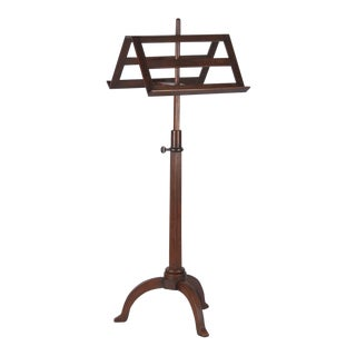 Early 20th Century French Walnut Duet Music Stand For Sale