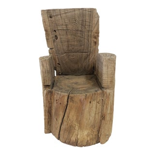 Childs Wood Stump Chair