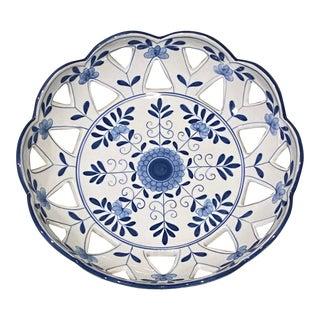 "1990s Maitland-Smith Porcelain ""Basket"" Bowl For Sale"