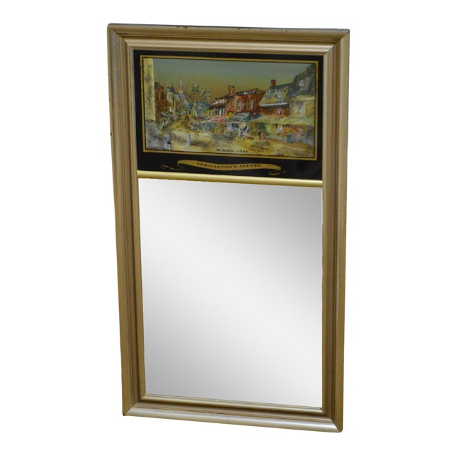 Federal Style Reverse Painted Silver Gilt Mirror Germantown Ave ...