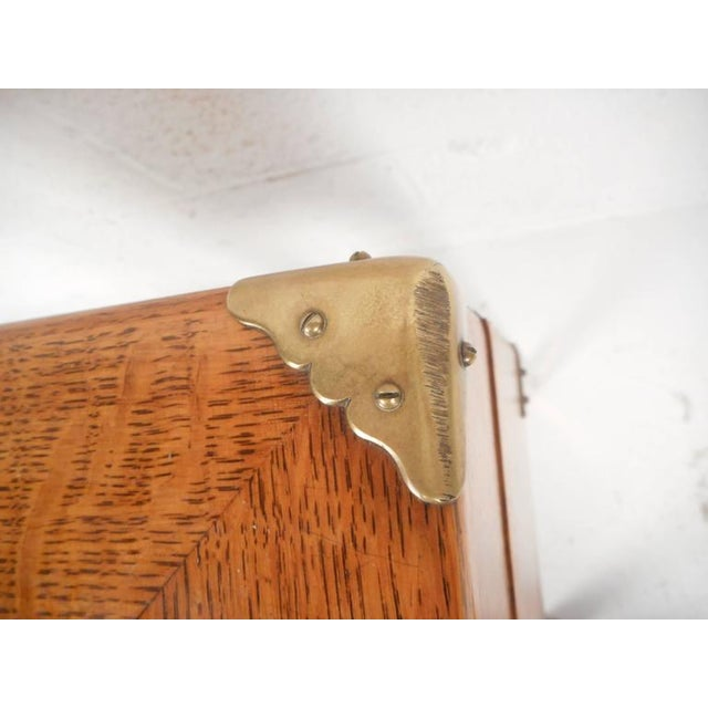 Mid-Century Modern Single Drawer Campaign Style Stand For Sale - Image 11 of 11