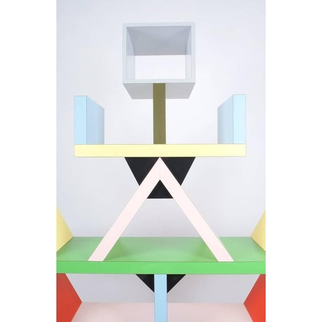 Colorful iconic 'Carlton' bookcase or room-divider designed by Ettore Sottsass for Memphis Milano in 1981. Heavy quality...