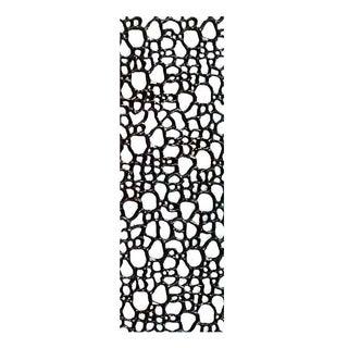 1970s Belgian Black Plastic Rectangular Panels - Set of 8 For Sale