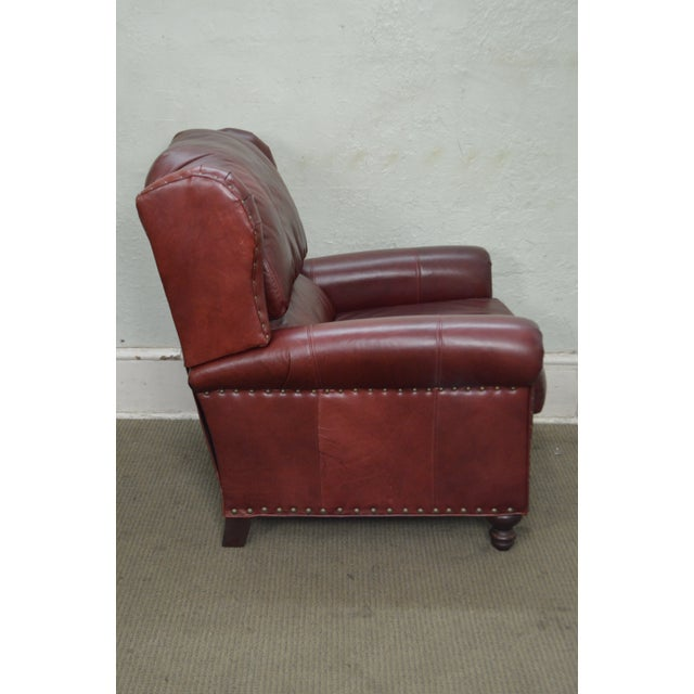 Bradington Young Oxblood Leather Recliner Lounge Chair - Image 3 of 10