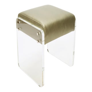 Sammy Platino Gold Counter Stool For Sale